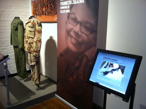Multimedia is incorporated well at the KMHM. Visitors can listen to clips of oral histories.
